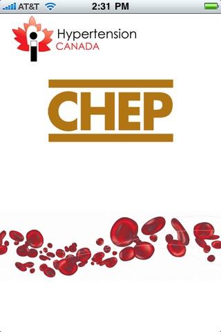 Splash page for CHEP app