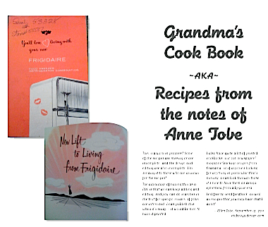 First draft for Grandma's Cookbook