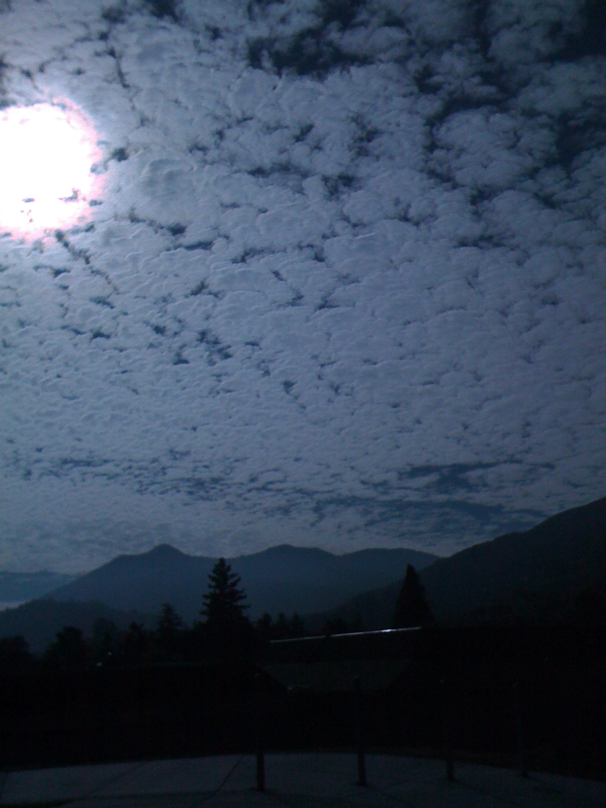 Beautiful clouds over Mount Tamalpais