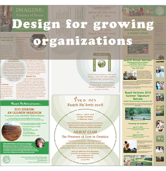 Graphic design for Jewish organizations