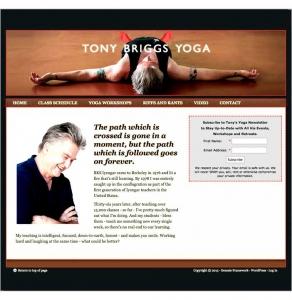 Tony Briggs Yoga - WordPress site