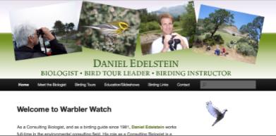 Warbler Watch screen grab