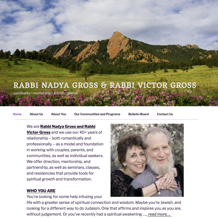 Two Rabbis: RABBI NADYA GROSS & RABBI VICTOR GROSS - Petaluma - careers